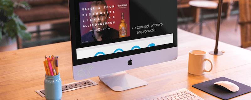 Studio Baat Website op Imac